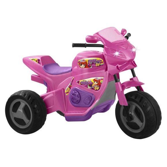 Triciclo-Eletrico-Infantil-6v-Moto-Max-Turbo-Rosa-Magic-Toys