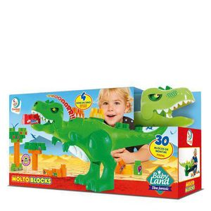 Blocos-de-Montar-30-Pecas-Dino-Jurassico-Baby-Land---Cardoso